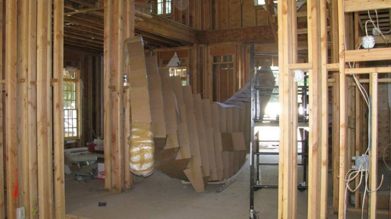 A Gallery Of Some Of Our Latest Residential Construction Projects. The  Grand Stairway In A New Construction Home. RTJ Construction Paramus New  Jersey ...