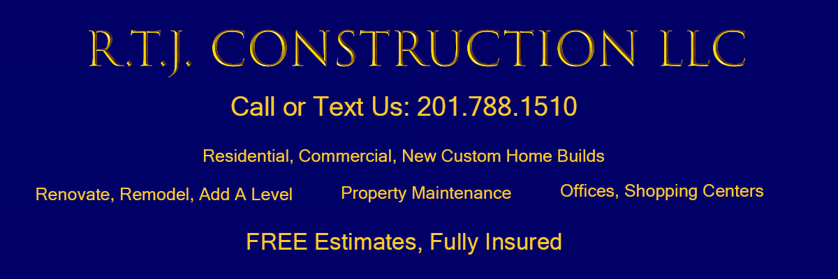 RTJ Construction LLC Bergen County General Contractor Builder New Jersey Residential Commercial